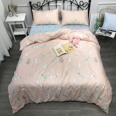 2019年全棉13372精梳棉四件套-卡通系 1.8m(6英尺)床 柠檬兔