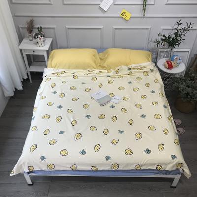 2020纯棉隔脏睡袋新品 黄草莓120*210cm