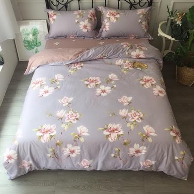2018新款13372静待花开系列四件套 1.8m(6英尺)床 夕月幽香紫