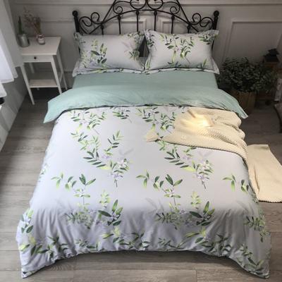 2020年全棉13372精梳棉四件套-圆网花卉 1.5m(5英尺)床 香韵