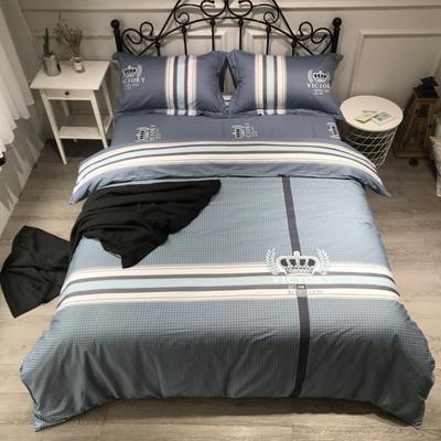 2020年全棉13372精梳棉四件套-大版花 1.5m(5英尺)床 简单生活