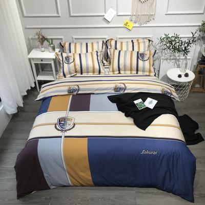 2020年全棉13372精梳棉四件套-大版花 1.5m(5英尺)床 酷玩