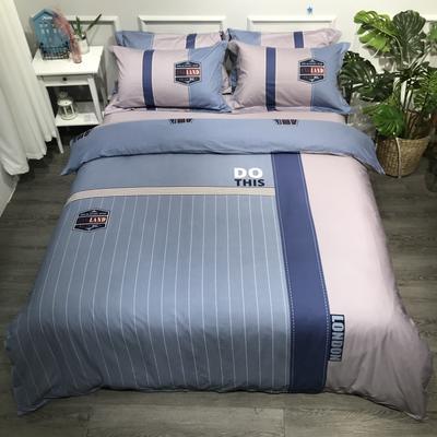 2020年全棉13372精梳棉四件套-大版花(第一波) 1.8m(6英尺)床 时尚风
