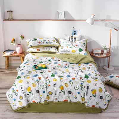 2020新款13372活性全棉夏被四件套单品系列 180cmx230cm单床单 向阳花开