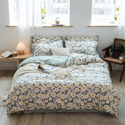 2020新款全棉13376四件套-清新小碎花系列 1.5m床单款 小雏菊