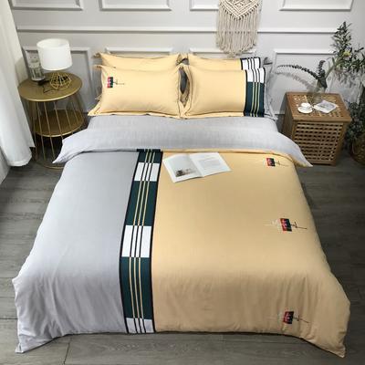 2020新款全棉磨毛四件套色块碰撞系列 1.8m(6英尺)床 非凡格调