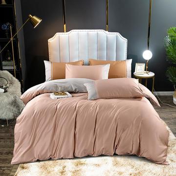 2020新款60长绒棉拼色酒店风系列四件套-棚拍图