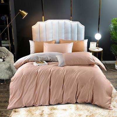 2020新款60长绒棉拼色酒店风系列四件套-棚拍图 1.8m床单款四件套 香妃玉