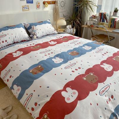 2021新款13372全棉活性甜梦系四件套 1.5m床单款四件套 8童话