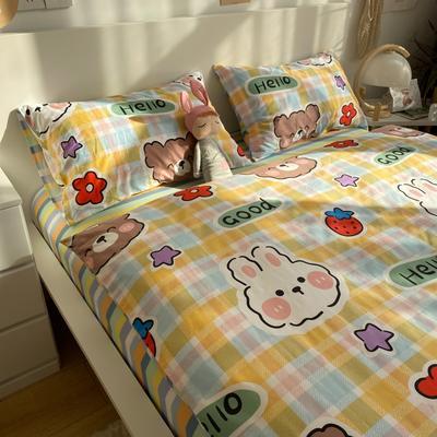 2021新款13372全棉活性甜梦系四件套 1.5m床单款四件套 爱巢