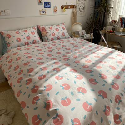 2021新款13372全棉活性甜梦系四件套 1.5m床单款四件套 粉玉点点