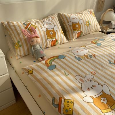 2021新款13372全棉活性甜梦系四件套 1.5m床单款四件套 流氓兔