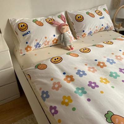 2021新款13372全棉活性甜梦系四件套 1.5m床单款四件套 萝卜的爱