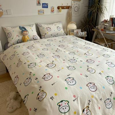 2021新款13372全棉活性甜梦系四件套 1.5m床单款四件套 小精灵