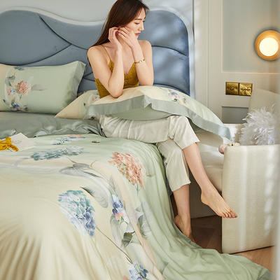 2021新款60天丝平网四件套 1.8m床单款四件套 亚瑟