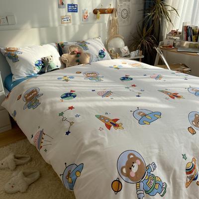 2021新款13372全棉活性甜梦系四件套1 1.5m床单款四件套 宇宙星空