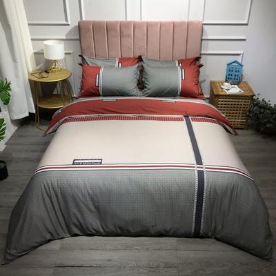 2021新款全棉13372精梳棉四件套-大版花第五波 1.8m床单款四件套 格蕾斯