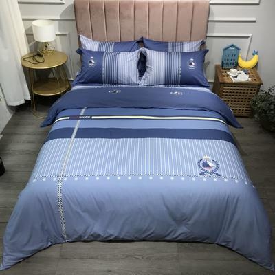 2021新款全棉13372精梳棉四件套-大版花第五波 1.8m床单款四件套 卡那
