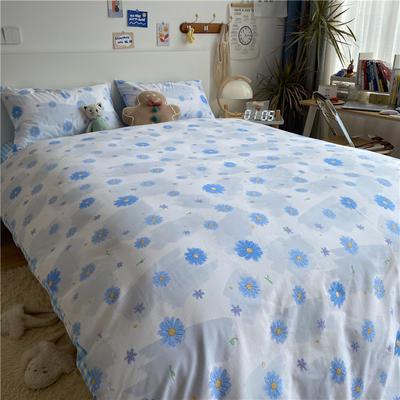 2021新款13372全棉活性甜梦系四件套2 1.5m床单款四件套 花语兰