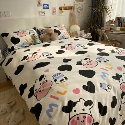 2021新款13372全棉活性甜梦系四件套2 1.5m床单款四件套 奶牛宝宝
