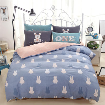 混搭卡通四件套 小号(1.35m床及以下)三件套 彼得兔