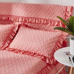 2018纯色夹棉床头罩单品 1.5m 粉色