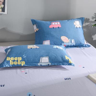 2019新款全棉单品枕套 48cmX74cm/对 汽车世界