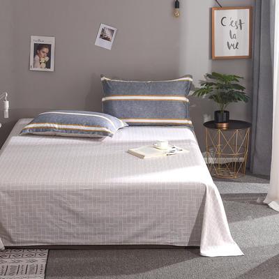 2019新款全棉单品床单 160cmx230cm 安吉里-灰