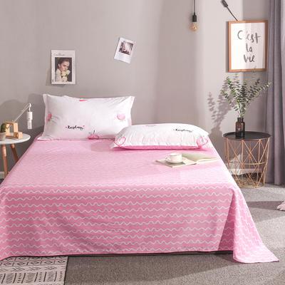 2019新款全棉单品床单 160cmx230cm 草莓心愿