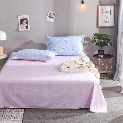 2019新款全棉单品床单 160cmx230cm 花开朵朵