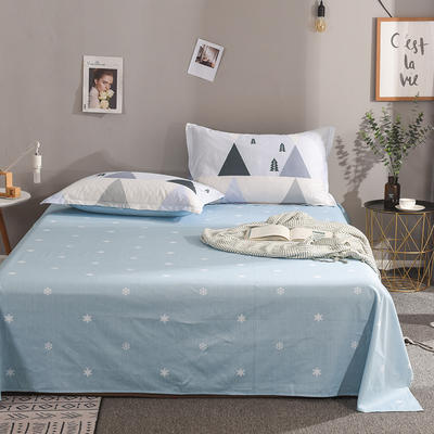2019新款全棉单品床单 160cmx230cm 华尔兹