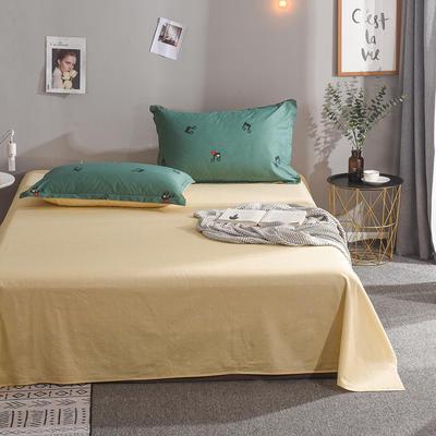2020新款全棉单品床单 160cmx230cm 快乐音符-绿