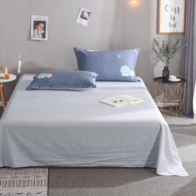 2019新款全棉单品床单 160cmx230cm 蘑菇屋