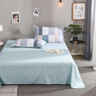 2019新款全棉单品床单 160cmx230cm 时尚芭莎