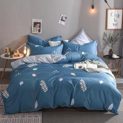 2019新款全棉床单款四件套 1.2m床单款三件套 淡雅清新-兰