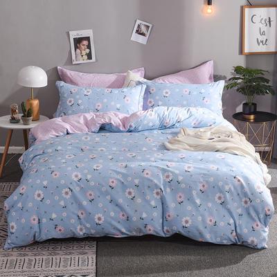 2019新款全棉床单款四件套 1.2m床单款三件套 花开朵朵
