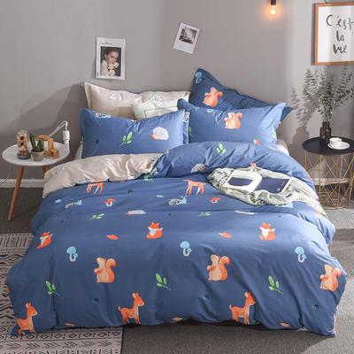 2019新款全棉床单款四件套 1.2m床单款三件套 萌趣