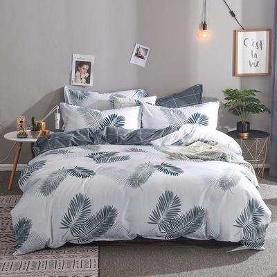 2019新款全棉床单款四件套 1.2m床单款三件套 羽叶