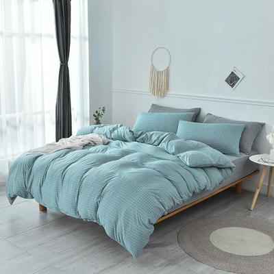 2019新款超柔莱卡针织棉四件套 1.5m(5英尺)床单款 格调-蓝