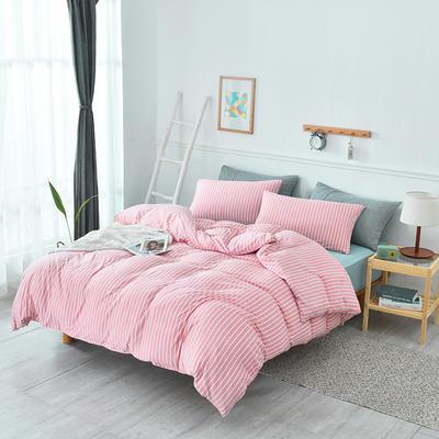 2019新款超柔莱卡针织棉四件套 1.5m(5英尺)床单款 雅韵-粉