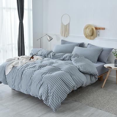 2019新款超柔莱卡针织棉四件套 1.5m(5英尺)床单款 雅韵-灰