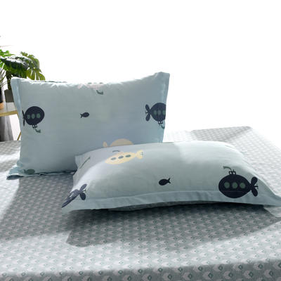 2020新款全棉单品枕套 48cmX74cm/个 潜水派对