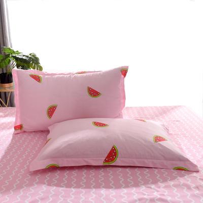 2020新款全棉单品枕套 48cmX74cm/个 夏日清甜