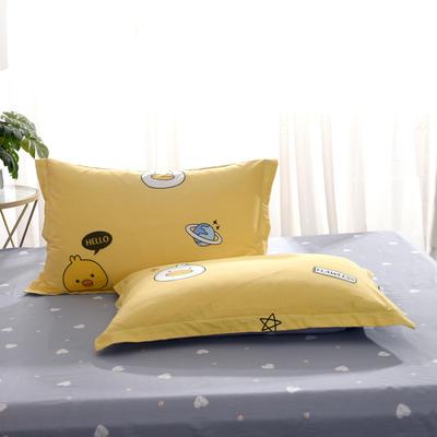 2020新款全棉单品枕套 48cmX74cm/个 着迷-黄
