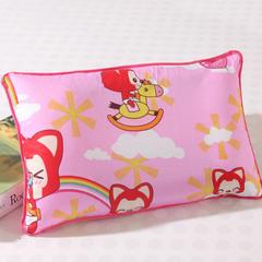 儿童灰网决明子枕系列 大号枕芯+粉色枕套