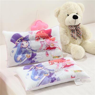 炫彩3D卡通儿童枕(30*50) 美少女