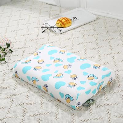 2018新款-儿童乳胶枕 (44x27cm/只) 奶牛小帽