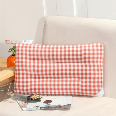儿童枕(30*50) 30*50cm 红白格