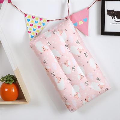2019新款-全棉卡通枕(30x50) 小绵羊-粉