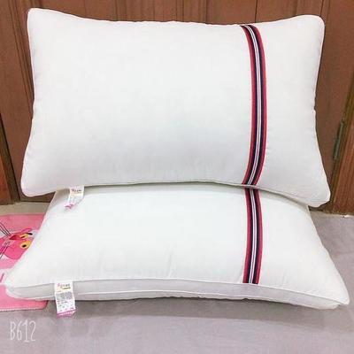 2019新款-磨毛彩带枕芯枕头 低枕二只装